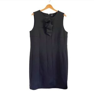 Anne Fontaine Sleeveless Black Bow Tie Lany Dress